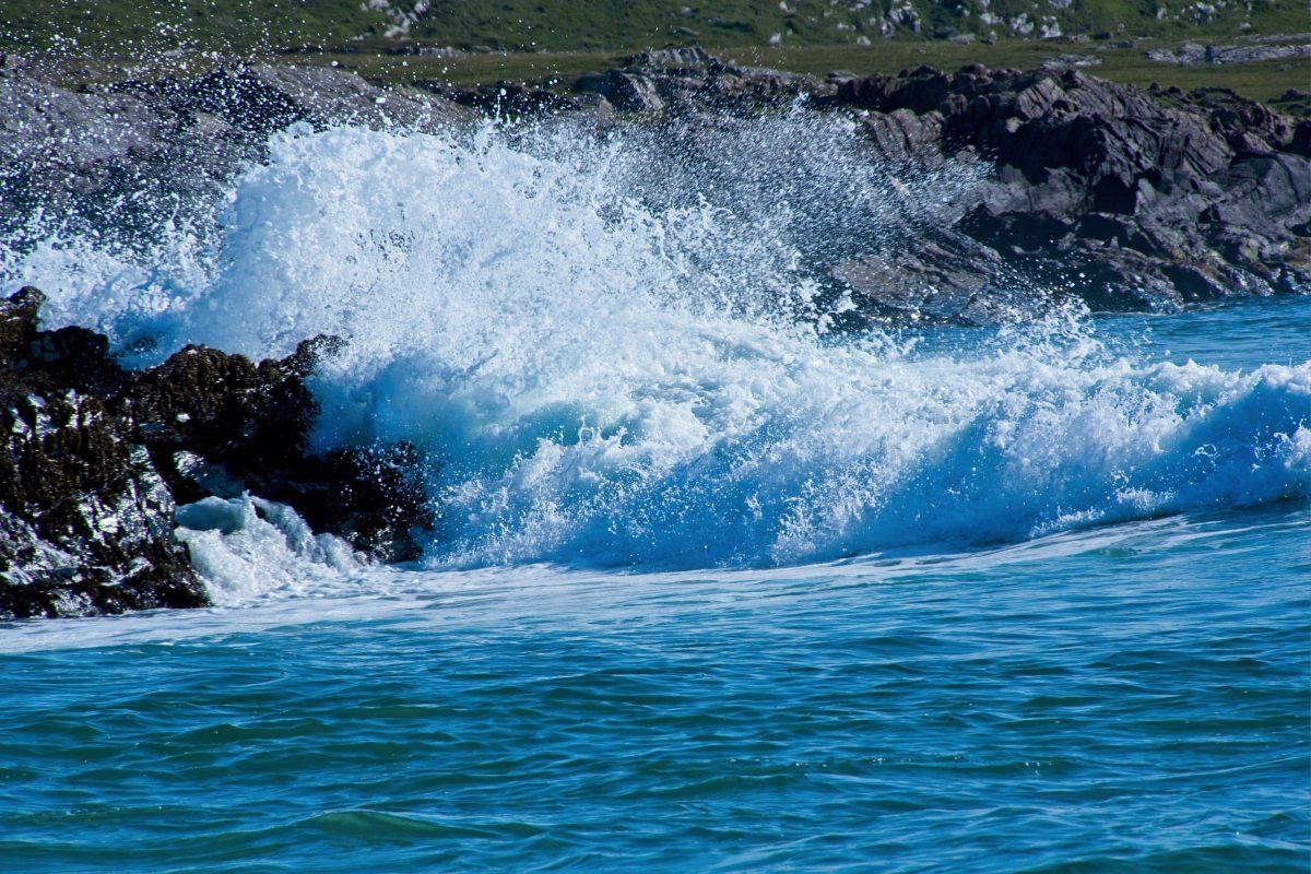 Fels in der Brandung (Islay)