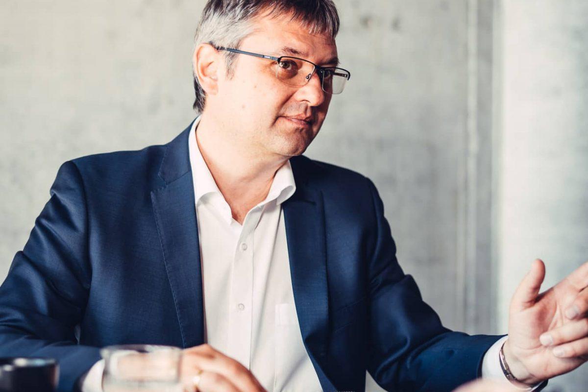 Peter Moser im Kundengespräch